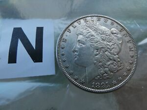 1891 S MORGAN SILVER DOLLAR MINT ERROR COIN ALMOST UNCIRCULATED BEAUTIFUL TONING