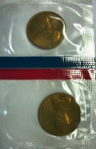 1978 P & D LINCOLN MEMORIAL CENT / PENNY SET IN MINT CELLO
