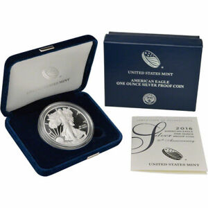 2016 W SILVER PROOF AMERICAN EAGLE 1 OZ 30TH ANNIVERSARY EDGED LETTERING