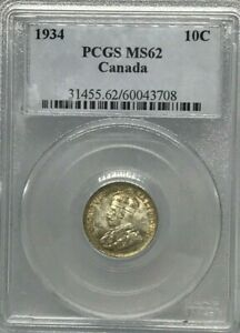 Click now to see the BUY IT NOW Price! CANANDIAN 1934 10 GRADED PCGS MS 62