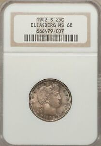 Click now to see the BUY IT NOW Price! 1902 S BARBER QUARTER MS68  NGC THE SOLE FINEST CERTIFIED