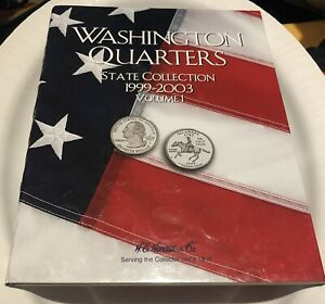 WASHINGTON QUARTERS STATE COLLECTION BOOK   1999 2003   VOLUME 1   NO COINS