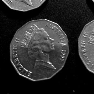 AUSTRALIAN 50 CENT 1X COIN 1997  AND LIMITED COAT OF ARMS