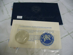 Click now to see the BUY IT NOW Price! 1971 S  USA  IKE  EISENHOWER  UN CIRCULATED  SILVER DOLLAR    1$   71S   SEALED