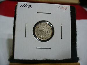 Click now to see the BUY IT NOW Price! 1945  CANADA  SILVER  NICKEL 1/20  DOLLAR  5 CENT COIN   NEWFOUNDLAND  STERLING