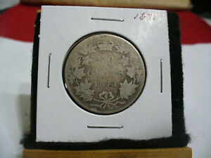 Click now to see the BUY IT NOW Price! 1871  CANADA  SILVER HALF DOLLAR  COIN   GOOD GRADE   71   SEE PHOTOS