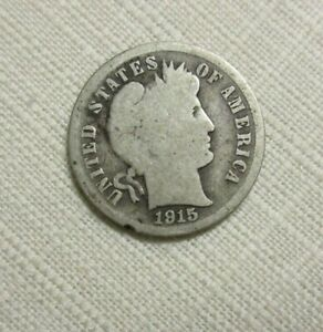 1915 S   BARBER  DIME 10 C SILVER COIN    G   GOOD         9 11 K