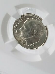 1948 D SILVER DIME MS 65 FT  FULL TORCH  SHARP STRIKE.