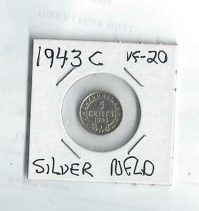 1943 C SILVER NICKEL  FROM CANADA   NFLD