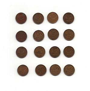 CANADA CENT COINS 1939 1952 KING GEORGE VI CIRCILATED 1937 1952
