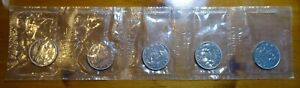 1969 CANADA $1 NICKEL DOLLAR COINS MINT SEALED LOT OF 5