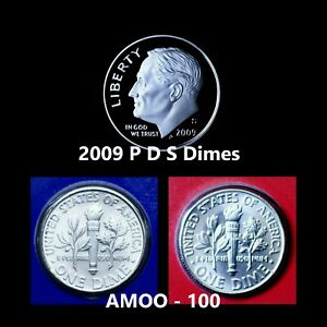 2009 S ROOSEVELT CLAD PROOF DIME COIN FROM U.S. MINT PROOF SET