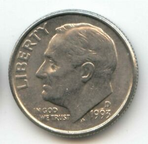 USA 1993D TEN CENT AMERICAN ROOSEVELT DIME 10C 10 C EXACT COIN SHOWN 1993 D