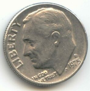 USA 1975D TEN CENT AMERICAN DIME 10C 10 C  EXACT  COIN 1975 D