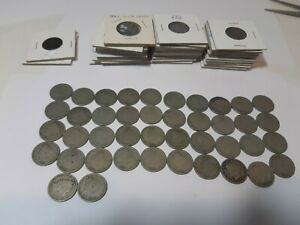 74 US LIBERTY NICKEL COINS LOT 1883 1913 VARIOUS DATES AND CONDITION