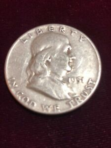 1951 FRANKLIN HALF DOLLAR SILVER CIRCULATED COIN