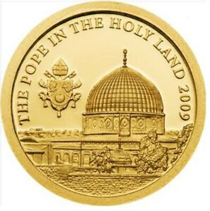 THE POPE IN SAINTS LAND   1 DOLLAR COOK ISLANDS PF .999 GOLD