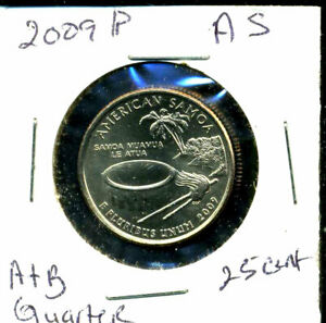 2009 P CH BU TERRITORIES QUARTER AMERICAN SAMOA BRILLIANT UNCIRCULATED COIN C2