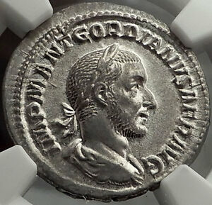 Click now to see the BUY IT NOW Price! GORDIAN I AFRICANUS 238AD  ANCIENT SILVER ROMAN DENARIUS COIN NGC CH AU