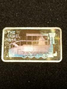 THE CAMEL 1848 STEAM LOCOMOTIVE 1 OZ 999 SILVER BAR BEAUTIFULLY TONED