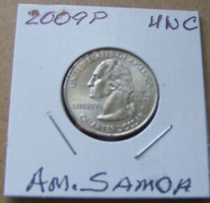 2009 P AMERICAN SAMOA UNCIRCULATED WASHINGTON QUARTER