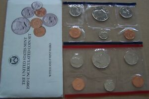 1989 UNCIRCULATED US MINT SET  10 COINS