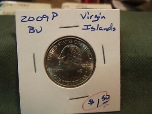 2009P BU WASHINGTON VIRGIN ISLANDS TERRITORY QUARTER DOLLAR FROM US MINT SET