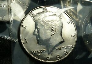 1988 P KENNEDY 50C HALF DOLLAR UNCIRCULATED BU IN OGP MINT CELLO   LOW MINTAGE