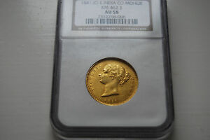 Click now to see the BUY IT NOW Price! LY 1841 BRITISH INDIA NGC AU58 GOLD MOHUR