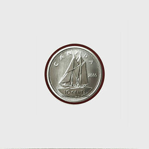 2005P CANADA 10 CENTS SPECIMEN FROM SET