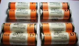 Click now to see the BUY IT NOW Price! 8 STATE BU QUARTER ROLLS LOT 2001 P & D NORTH CAROLINA NEW YORK KENTUCKY VERMONT