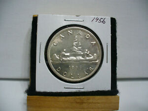 Click now to see the BUY IT NOW Price! 1956  CANADA  SILVER DOLLAR  COIN   NICE GRADE  SEE PHOTOS   56    NICE GRADE