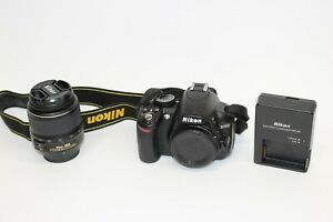 NIKON D3100 14.2MP DSLR DIGITAL CAMERA KIT W/ AF S DX 18 55MM F/3.5 5.6G II