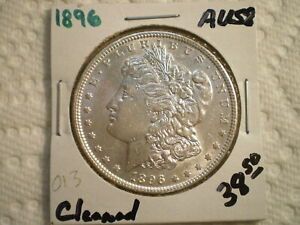 1896 MORGAN SILVER DOLLAR/ CLEANING    RAW UNCERTIFIED
