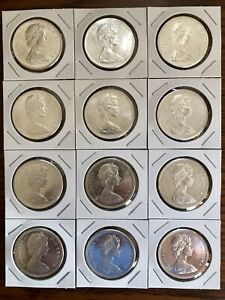 Click now to see the BUY IT NOW Price! 12  1967 CANADA SILVER DOLLARS CENTENNIAL ELIZABETH II   FLYING GOOSE  LOT OF 12