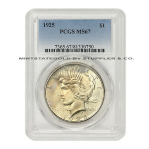 Click now to see the BUY IT NOW Price! 1925 $1 PEACE SILVER DOLLAR PCGS MS67 GEM GRADED PHILADELPHIA COIN ONLY 5 HIGHER