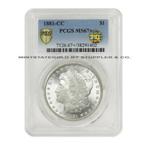 Click now to see the BUY IT NOW Price! 1881 CC $1 SILVER MORGAN PCGS MS67  PQ APPROVED CARSON CITY DOLLAR COIN PLUS GEM