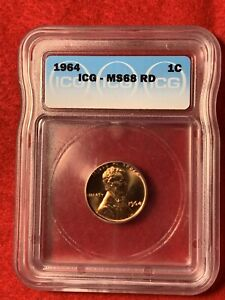 Click now to see the BUY IT NOW Price! 1964 PENNY ICG MS68 RD MINT CONDITION UNCIRCULATED