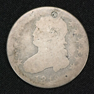1819 25C CAPPED BUST EARLY SILVER QUARTER LOTV040