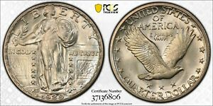 1929 S 25C STANDING LIBERTY QUARTER PCGS MS65 CAC   GOLD SHIELD HOLDER