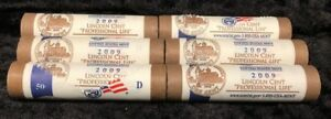2009 D PROFESSIONAL LIFE US MINT WRAPPED LINCOLN CENT ROLLS