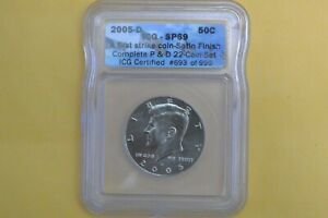 Click now to see the BUY IT NOW Price! 2005 D KENNEDY HALF DOLLAR ICG SP69 SATIN FINISH COIN