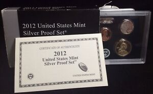 2012 UNITED STATES MINT SILVER PROOF SET WITH COA
