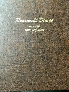Click now to see the BUY IT NOW Price! ROOSEVELT  DIME SET IN DANSCO ALBUM  1946   1986      110    COINS