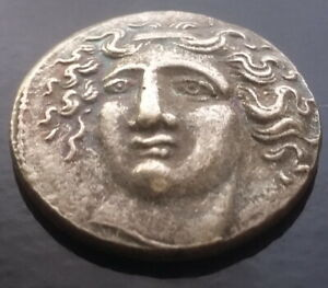 SILVER PLATED GREEK ANCIENT GREECE HORSE ANIMAL ATHENS GREEK COIN