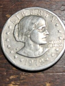 1979 SUSAN B ANTHONY DOLLAR COIN BLOB  ERROR  MINT