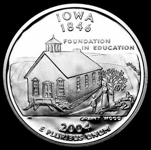 2004 S IOWA STATE CLAD PROOF   STATEHOOD QUARTER