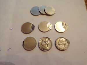 6  DOUBLE STRUCK NICKELS PLANCHET ? ONE MAY HAVE BEEN STRUCK 3 TIMES ?