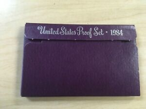 1984 S PROOF SET UNITED STATES WITH US MINT ORIGINAL GOVERNMENT PACKAGING BOX
