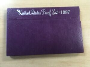 1987 S PROOF SET UNITED STATES WITH US MINT ORIGINAL GOVERNMENT PACKAGING BOX